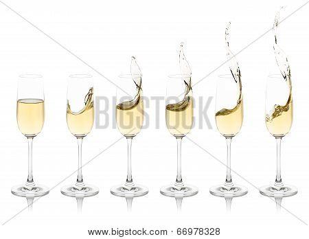 Splashing Champagne Flutes