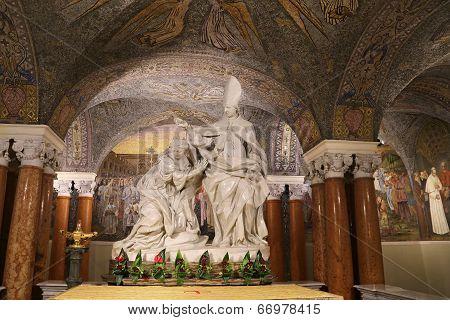 Ascoli Piceno, Italy - June 02, 2014: Lateral Dome Of The S. Emidio's Cathedral In Ascoli Piceno, It
