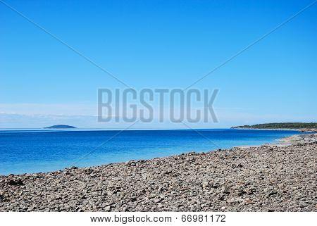 Island View From A  Stony Coast