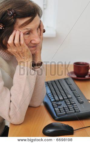 Senior Woman Worried - Indoors