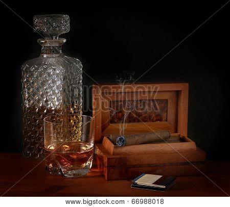 Burbon And Cigar