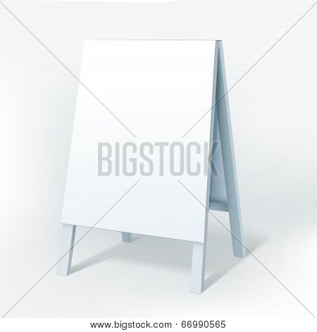Vector Illustration Of Blank White Billboard