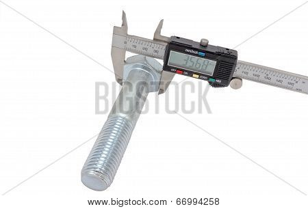 Vernier Calipers And Screw-bolt