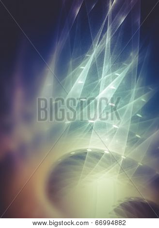 Futuristic, Power concept, Abstract fractal texture, wisps and lights, Background design