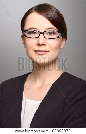 Businesswoman With An Attentive Expression