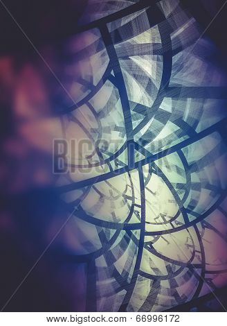Trendy, Power concept, Abstract fractal texture, wisps and lights, Background design