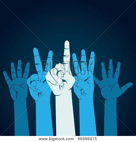 finger counting one to five background vector