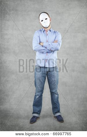 Businessman In A Mask