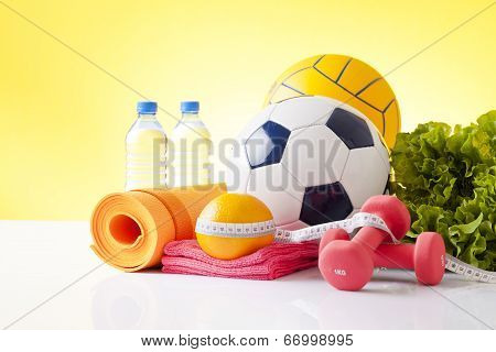 sport and healathy food