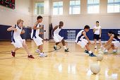 picture of 13 year old  - High School Students Playing Dodge Ball In Gym - JPG