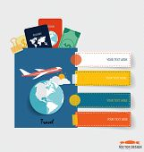 foto of passport template  - International passport and elements of travel - JPG