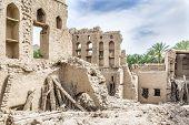 stock photo of oman  - Image of ruins in Birkat al mud in Oman - JPG