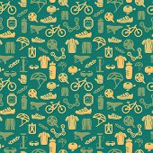 foto of bicycle gear  - Bicycle bike sport fitness seamless pattern background vector illustration - JPG