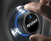 picture of revenue  - finger turning a revenue button to the highest position - JPG
