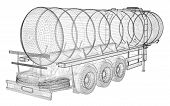 foto of tank truck  - Tanker Truck Isolated Logistics  - JPG