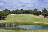 pic of vilamoura  - Golf course on Vilamoura Portugal during sunny day - JPG