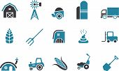 stock photo of truck farm  - Vector icons pack  - JPG