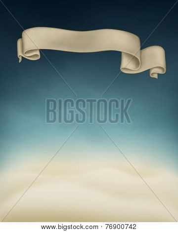 Winter abstract background with banner