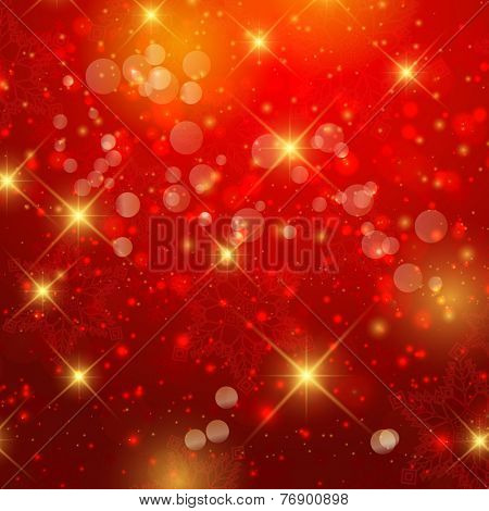 Christmas background with snowflakes and stars design
