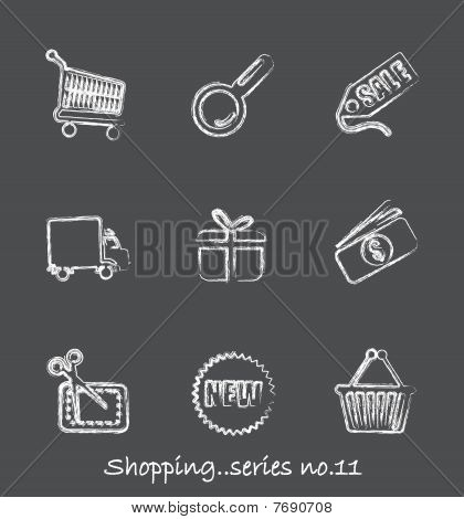 Shopping chalkboard icons...series no.11