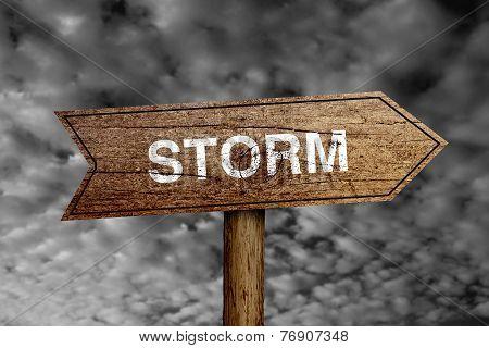 Storm Road Sign
