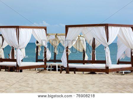 Canopies On The Beach