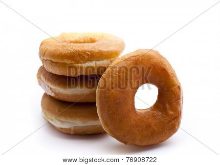 bagels isolated on white background.