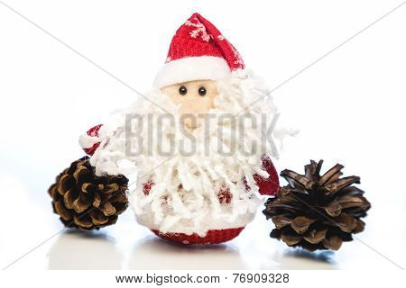 Santa Claus With Pine Cones