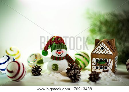 gingerbread house over