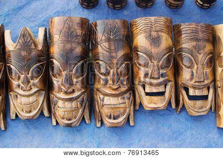 Wooden Masks , Indian Handicrafts Fair At Kolkata
