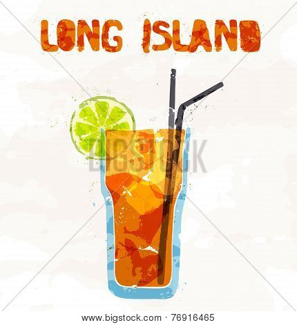 Long island ice tea coctail