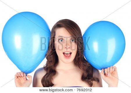 Surprised with balloons