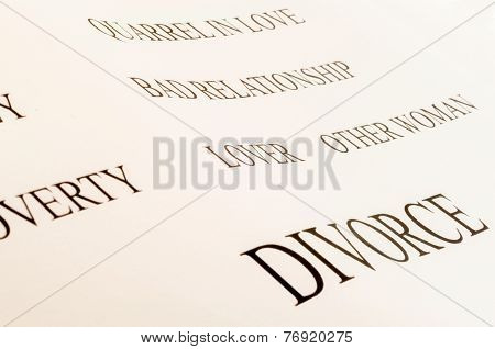 Divorce Word