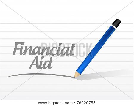 Financial Aid Message Illustration Design