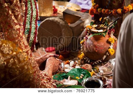 Indian Hindu traditional Wedding ritual