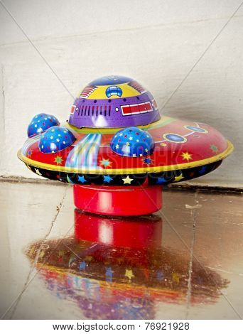 Ufo toy on floor