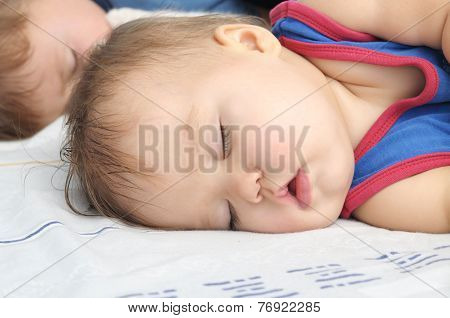 Baby Girl Sleeping With Brother