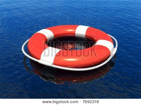 Life belt in water
