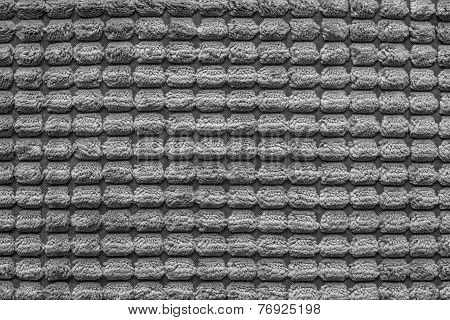 Texture Of Terry Fabric Silvery Gray Color