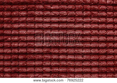 Texture Of Terry Fabric Silvery Red Color