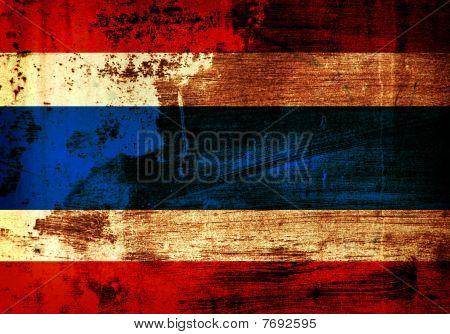 Grunge Thailand Flag
