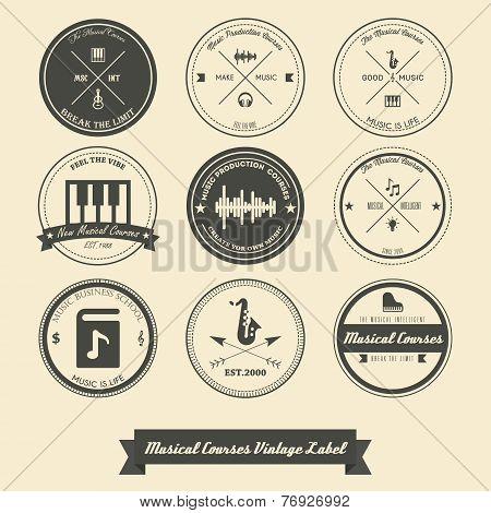 Musical Course Vintage Label