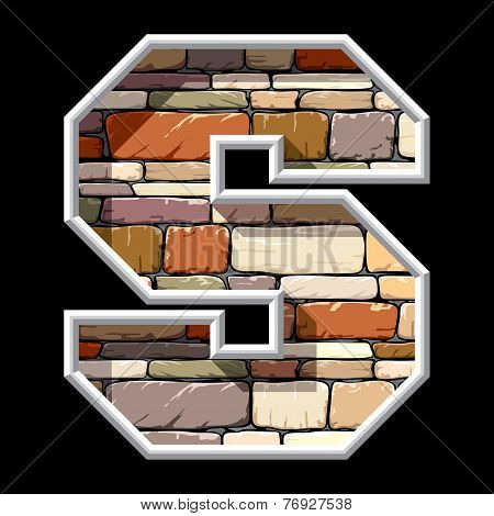 stone letter S