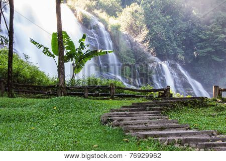 Wachirathan Waterfall, Doi Inthanon National Park In Chiang Mai, Thailand