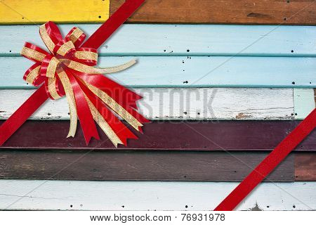 A stock photo of  multicolored wooden wall as a background