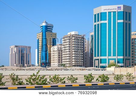 Modern Office Buildings Of Manama City