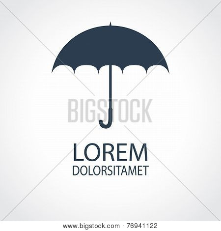 Umbrella Flat Icon. Safety, Protection, Rain, Autumn Season Conc