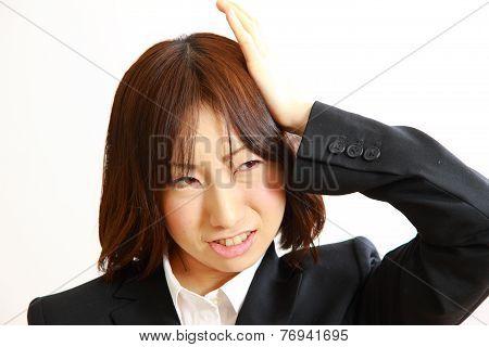 perplexed businesswoman