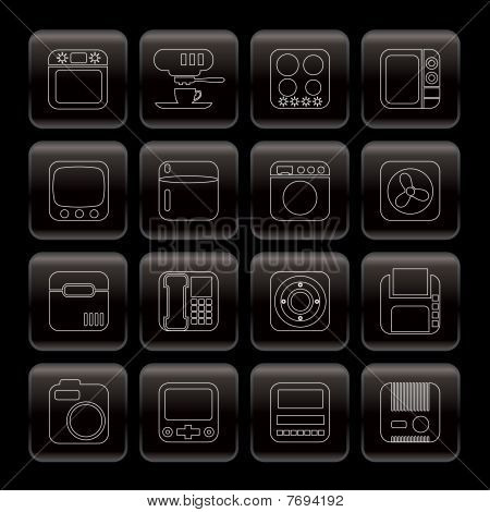 Line Home and Office, Equipment Icons