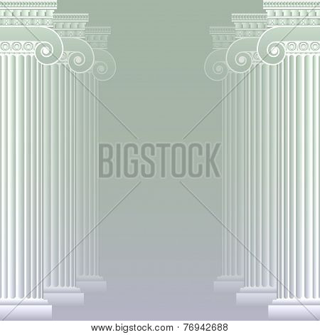 Classical greek or roman columns